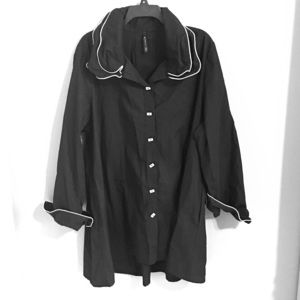 IC by Connie K Trench Coat Ruffles 1X Plus size